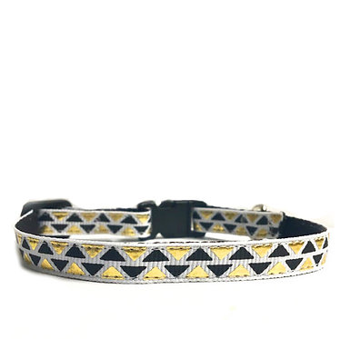 Paws n Claws Ribbon Collar for Cats Foil Triangles