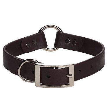 DuraSoft Hunt Safety Faux Leather Dog Collar Mendota Black
