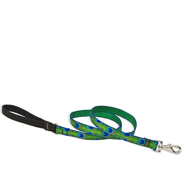 "LupinePet Lupine 3/4"" in. inch Patterned 6 ft. foot Lead Tail Feathers"