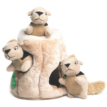 Outward Hound Hide-a-Squirrel Dog Puzzle Plush Toy Jumbo