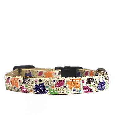 Paws n Claws Ribbon Collar for Cats Fall Leaves