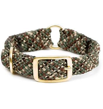 Mendota Double-Braid Center Ring Dog Collar Camo