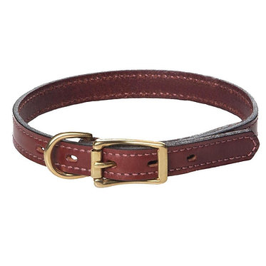 Mendota English Bridle Leather Standard Collar Narrow 3/4""