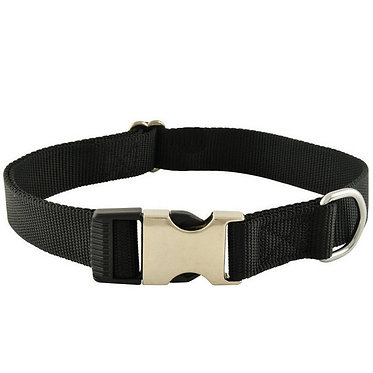 Jeffers Millennium Nylon Dog Collar Black