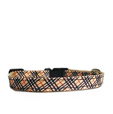Paws n Claws Ribbon Collar for Cats Tartan Plaid