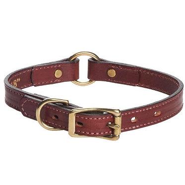 "Mendota Leather Hunt Center-Ring Safety Collar Narrow 3/4"""