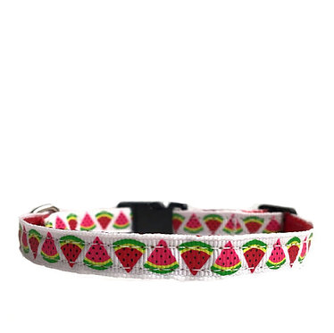 Paws n Claws Ribbon Collar for Cats Watermelons