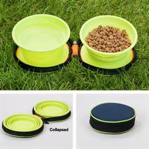 Petmate Silicone Travel Bowl Duo Styles