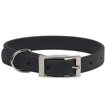 Mendota DuraSoft Faux Leather Dog Collar Puppy Small Black