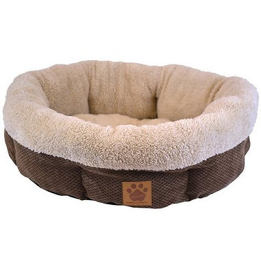 Petmate Daydreamer Shearling Round Bed Coffee