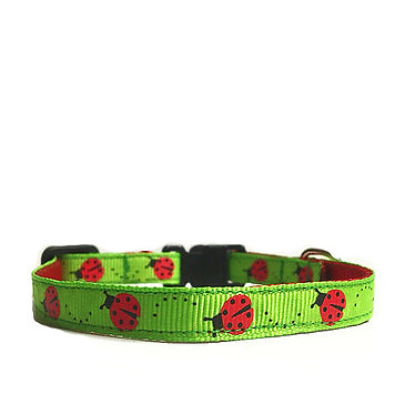 Paws n Claws Ribbon Collar for Cats Ladybugs