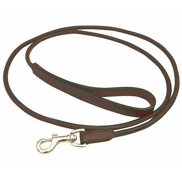 Jeffers Premium Rolled Leather Lead Brown Nickel Hardware