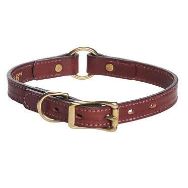"Mendota Leather Hunt Collar Narrow 3/4"""