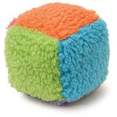 Fuzzy Cube Dog Toy