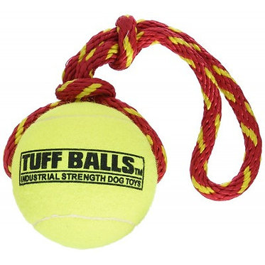 Petsport Tuff Balls Fling Thing Dog Toy Red
