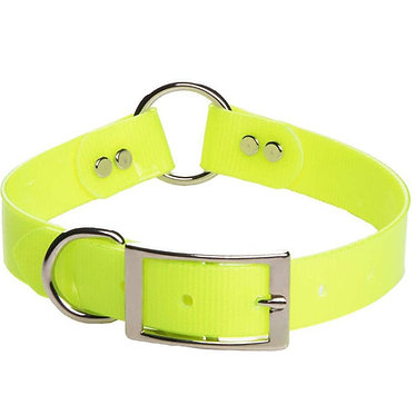 Mendota Biothane Day Bright Synthetic Center-Ring Safety Hunt Dog Collar Yellow