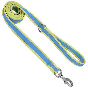 Coastal Pet Attire Pro Reflective Leash Aqua/Neon Yellow