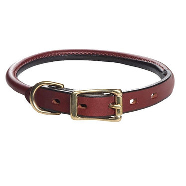 Mendota Rolled Leather Collar