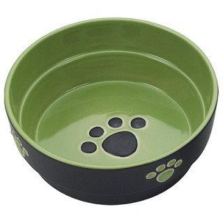 Fresco Stoneware Dog Dish Green SPOT Ethical Pet