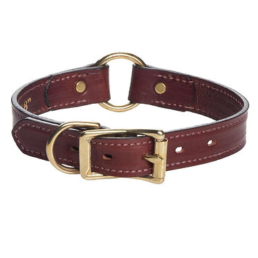 Mendota Leather Hunt Collar Wide 1""