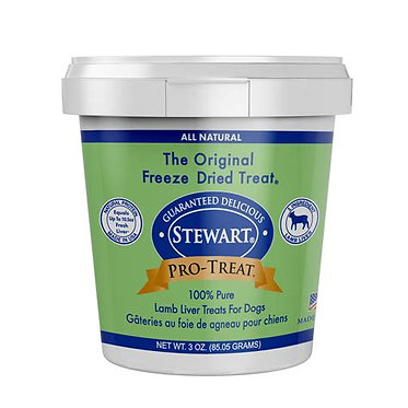 Stewart Pro Treat Freeze Dried Lamb Liver Treats 3 oz. ounce Tub