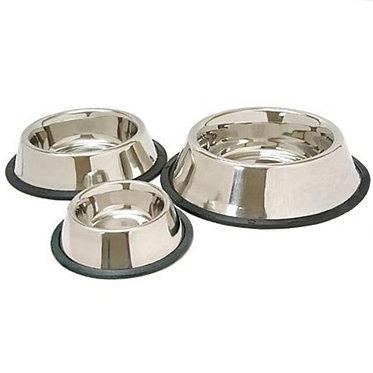 Stainless Steel Anti-Tip Anti-Skid Dog Bowl Dish