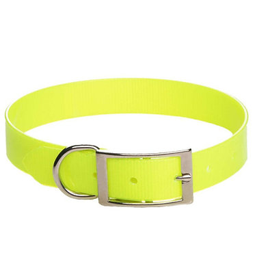 Mendota Biothane Day Bright Synthetic Standard Dog Collar Yellow