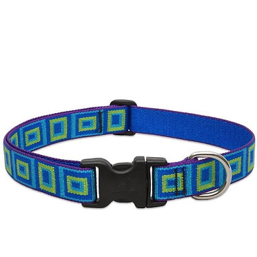 Lupine PupinePet Adjustable Nylon Dog Collar Sea Glass Front