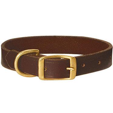 Jeffers Leather Flat Collar Brass
