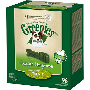 Greenies Dental Chews Fresh Breath Teenie Tub Treats