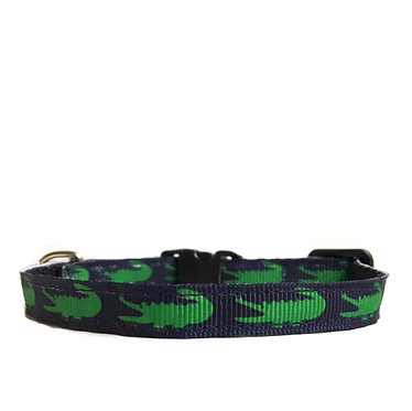 Paws n Claws Ribbon Collar for Cats Crocodile