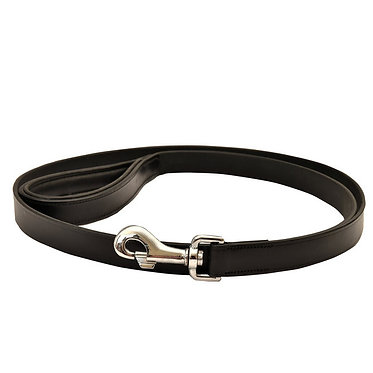 Jeffers Padded Leather Leash Lead Black