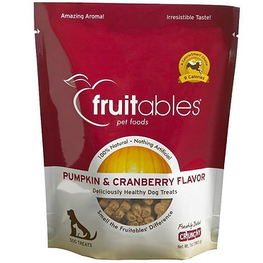 Fruitables Crunchy Oven-Baked Dog Treats Pumpkin & Cranberry