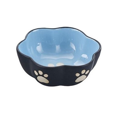 Vienna Stoneware Dog Dish Blue Small
