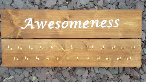 'Awesomeness' Medal Hanger