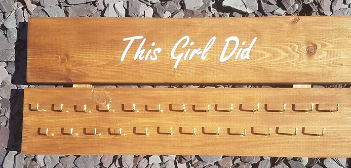 'This Girl Did' Medal Hanger