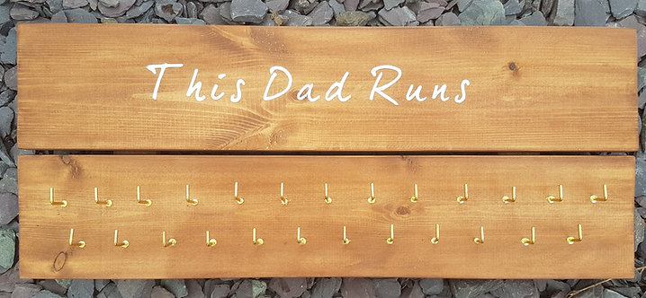 'This Dad Runs' Medal Hanger