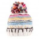 Cream Chunky Knit Bobble Hat