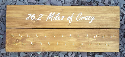 '26.2 Miles of Crazy' Medal Hanger