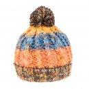 Orange Multi-coloured Bobble Hat