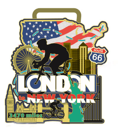 Cycle London to New York