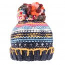 Navy Chunky Knit Bobble Hat