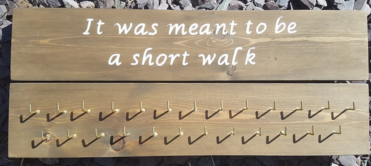 'It was meant to be a short walk' Medal Hanger