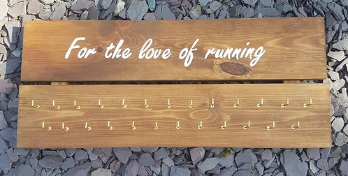 'For the Love of Running' Medal Hanger