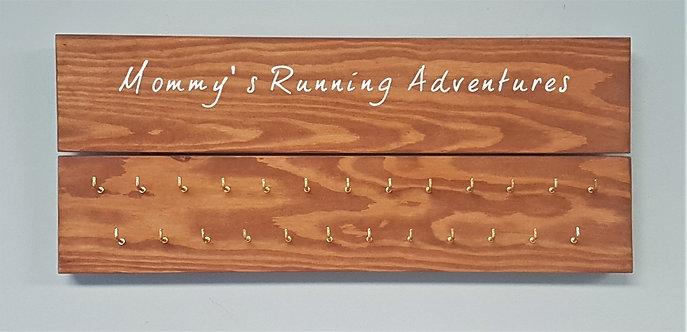 'Mommy's Running Adventures' Medal Hanger