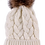 Thumbnail: Cream Cable Knit Pom Pom Hat