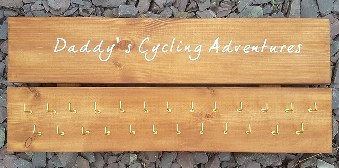 'Daddy's Cycling Adventures' Medal Hanger