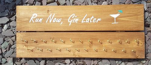 'Run Now, Gin Later' Medal Hanger