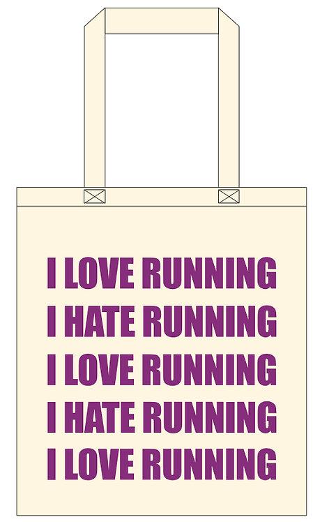 Love/Hate Running Tote Bag