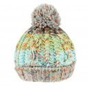 Green Multi-coloured bobble hat